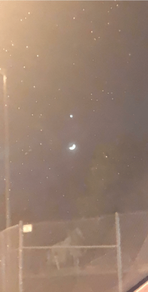 Snapped a photo of Venus directly above the moon! December 28, 2019: Snapped a photo of Venus directly above the moon! December 28, 2019