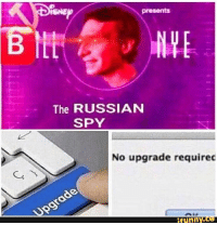 Funny, Russian, and Spy: SNE  presents  The RUSSIAN  SPY  No upgrade required  funny. Found on iFunny