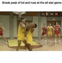 😭😂😭😭😭: Sneak peak of kd and russ at the all star game 😭😂😭😭😭