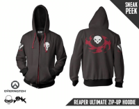 Fall, Http, and Overwatch: SNEAK  PEEK  OVERWATCH  REAPER ULTIMATE ZIP-UP HOODIE Vengeance shall be mine. Reaper shadow steps his way into the Overwatch Ultimate Hoodie collection this Fall. Here's a sneak peek. Stay tuned for launch details! http://bit.ly/2D2TNjd