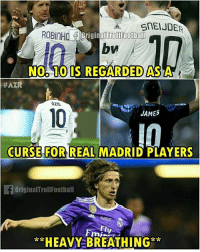 Oh no, Modric 🤔 ... 🔹FREE FOOTBALL EMOJI'S --> LINK IN OUR BIO!!! ➡️Credit: @originaltrollfootball: SnEIJDER  ROBINHO  .TOIS REGARDED ASA  NO 10IS REGARDED ASA  #AZR  ÖZIL  JAMES  10  I0  CURSE FOR REAL MADRID PLAYERS  OriginalTrollFootball  FI  **HEAVY BREATHING Oh no, Modric 🤔 ... 🔹FREE FOOTBALL EMOJI'S --> LINK IN OUR BIO!!! ➡️Credit: @originaltrollfootball