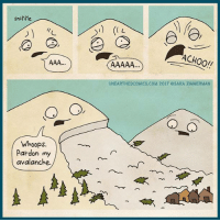Memes, 🤖, and Avalanche: sniffle  Whoops.  Pardon my  avalanche  ACHOO!!  UNEARTHEDCOMICS, COM 2017 OSARA ZIMMERMAN