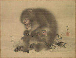 snirts: artistsanimals: Title: MonkeysArtist: Mori SosenOrigin: JapanDate: late 18th-early 19th centuryMedium: Hanging scroll: ink and light color on silkSize: 34.2 x 45.2 cm (13 7/16 x 17 ¾ in.)Source: Cleveland Museum of Art : snirts: artistsanimals: Title: MonkeysArtist: Mori SosenOrigin: JapanDate: late 18th-early 19th centuryMedium: Hanging scroll: ink and light color on silkSize: 34.2 x 45.2 cm (13 7/16 x 17 ¾ in.)Source: Cleveland Museum of Art