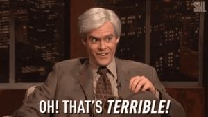 Hulu, Mrw, and Snl: SNL  OH! THAT'S TERRIBLE! MRW I'm using AdBlocker and Hulu apologizes for not being able to display ads