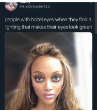 Memes, Tag Someone, and 🤖: @snollygoster123  people with hazel eyes when they find a  lighting that makes their eyes look green tag someone