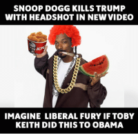 Another example of liberal hypocrisy. Let's see how many liberals will get offended by this stereotyped image of Snoop. liberal Killary Clintonfraudation fraud elections2016 Clinton Clintonforprison Hillno HillaryClinton Hitlary presidentialelections lockherup donottreadonme KKKlinton crooked Trump MAGA PresidentTrump NotMyPresident USA theredpill nothingleft: SNOOP DOGG KILLS TRUMP  WITH HEADSHOT IN NEW VIDEO  IMAGINE LIBERAL FURY IF TOBY  KEITH DID THIS TO OBAMA Another example of liberal hypocrisy. Let's see how many liberals will get offended by this stereotyped image of Snoop. liberal Killary Clintonfraudation fraud elections2016 Clinton Clintonforprison Hillno HillaryClinton Hitlary presidentialelections lockherup donottreadonme KKKlinton crooked Trump MAGA PresidentTrump NotMyPresident USA theredpill nothingleft