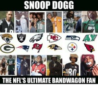 SNOOP DOGG  THE NFL'SU TIMATE BANDWAGON FAN C'mon @SnoopDogg ..