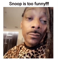 Funny, Memes, and Snoop: Snoop is too funny!!! Tag someone who loves snoop