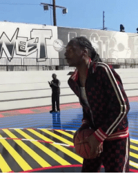 Memes, West Coast, and Wshh: SnoopDogg working on his shot for the east coast vs west coast game! 🏀👍💯 @SnoopDogg @HairWeaveKiller WSHH