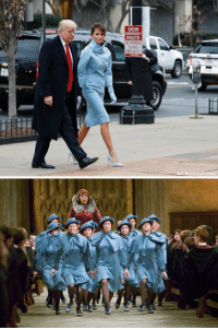 Melania Trump looked like she was gonna go try and win the tri-wizard tournament: SNOW  EMERGENCY  ROUTE  NO PARKING  DURING  EMERGENCY  Alex Brandon AP Photo   go Melania Trump looked like she was gonna go try and win the tri-wizard tournament