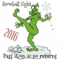 Memes, 🤖, and Snowballing: Snowball Fight  Pass it On  no returns For more awesome holiday and fun pictures go to... www.snowflakescottage.com