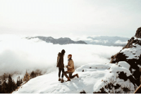 Memes, Photography, and 🤖: So, about this snowy mountaintop proposal...  Dylan M Howell Photography