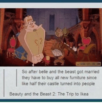 beautyandthebeast movie sotrue triptoikea ikea shopping funny cleanfunnypics lol: So after belle and the beast got married  they have to buy all new furniture since  like half their castle turned into people  Beauty and the Beast 2: The Trip to Ikea beautyandthebeast movie sotrue triptoikea ikea shopping funny cleanfunnypics lol