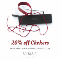 SO BASIC  20% off Chokers  SHO P NOW: WWW.SO BASICAPPAREL.COM  SO BASIC ***Intro Sale*** Step up your Fall Game with these elegant chokers. 20% off all chokers. choker chokers gigihadid kendalljenner fashion fashionblogger necklace accessories ootd fashionista style life vibes goodvibes gorgeous beautiful lovely fashionforward bossgirl bosslady bosslife cutie hotaf hot vogue kardashian kimkardashian kyliejenner