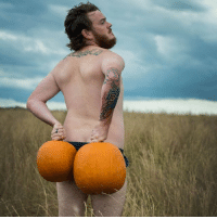 Blessed, Pumpkin, and Spicy: So blessed and humbled to share a sneak peek of my pumpkin spice dudeoir shoot! So spicy! 😏🔥🎃 FallSoHard BumkinSpiceLatte DudeoirGoals LiveLaughLoveYourself BodyPositive BrosBeingBasic via @gtphotography_17