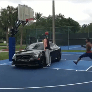 Memes, Between the Legs, and 🤖: So dunking over a car is just the normal now? Wait.... doing a BETWEEN THE LEGS over a car is normal now* https://t.co/SVRY5JHedr