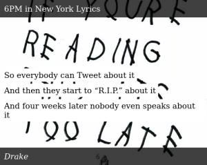Drake-If You're Reading This It's Too Late-6PM in New York