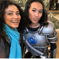 Memes, Squad, and 🤖: So excited to meet Ciara's sister Eliza on Saturday's new Knight Squad!! 😍 @heysydneypark @daniellaperkins