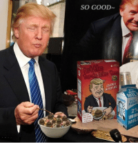 """""""No one eats cereal like me!""""  Shooter McGavin: SO GOOD  GREATNESS  IN EVERY ETE  MIL  FA  best cereal  ne one eats  Dame  LOW ENER  MILI  2  G """"No one eats cereal like me!""""  Shooter McGavin"""