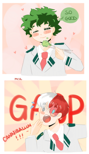 Click, Tumblr, and Blog: SO  GOOD   mca  GFOP  CANNIBAUM  ! ! mycatacademia:  soooosomething really silly! Deku eating broccoli … outrageous click for better quality!