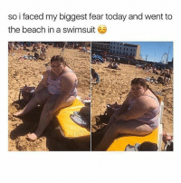 Love this. Comment your weight & height below!: so i faced my biggest fear today and went to  the beach in a swimsuit Love this. Comment your weight & height below!