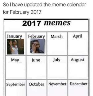 Meme, Target, and Tumblr: So I have updated the meme calendar  for February 2017  2017 meme  January February March April  May  June  July August  September October November December apathes: wonder what march has in store for us