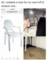 Lmfaooo amazon @memes memesapp: So i ordered a chair for my room off of  amazon and...  erizon  4:39 PM  a amazon.com  :k Lmfaooo amazon @memes memesapp