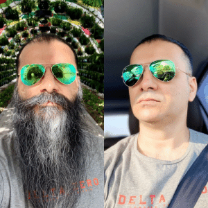 So, I shaved after a little more than 2 years. My phone was first to not recognize me and I had to reset Face ID 😆: So, I shaved after a little more than 2 years. My phone was first to not recognize me and I had to reset Face ID 😆