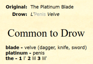 So I was playing around with nicknames for my Drow Priestess of Eilistraee and I swear to God I am still laughing about this one.: So I was playing around with nicknames for my Drow Priestess of Eilistraee and I swear to God I am still laughing about this one.