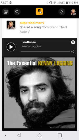 """So I was pressing X to share on social club cause I thought it actually wouldn't do anything. Apparently it does. Anyway, why did I share """"footloose""""? There's only 2 Kenny Loggins songs, """"I'm free"""" and """"Danger Zone"""", in the game, not """"footloose"""".: So I was pressing X to share on social club cause I thought it actually wouldn't do anything. Apparently it does. Anyway, why did I share """"footloose""""? There's only 2 Kenny Loggins songs, """"I'm free"""" and """"Danger Zone"""", in the game, not """"footloose""""."""