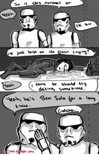 Time, Dank Memes, and Lmfao: So is this normal or  Neah.  think he shoud try  ean  dotine somn time.  Yeoh, he's Ben Solo ter a long Lmfao this is great.   (Via Cyou Art)
