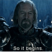 Lord of the Rings: So it begins