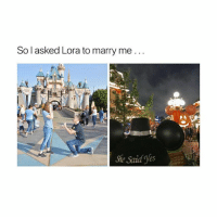 i need new friends: So l asked Lora to marry me..  She Said Yes i need new friends
