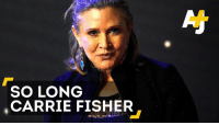 Fierce, elegant and a feminist icon. May the force always be with you, Carrie Fisher.: SO LONG  CARRIE FISHER Fierce, elegant and a feminist icon. May the force always be with you, Carrie Fisher.