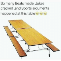 Sports, Beats, and Cracked: So many Beats made, Jokes  cracked ,and Sports arguments  happened at this table Who else had great times at this table!? 🤔🙋‍♂️ https://t.co/qsRTVb1Xay