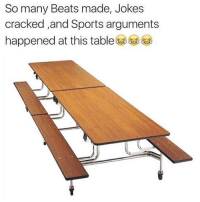 Funny, Roast, and Sports: So many Beats made, Jokes  cracked and Sports arguments  happened at this table The OG table 🙏 where all the roasts happened 😂