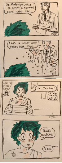 Bones, Doctor, and Tumblr: So,Midoriya , this  is what a normal  bone looks like  this is what your)  bones look like  +OS5   YING 1S  vh. Doctor?  LTRA  20パ  Thats  cynfetti  5  ブ:  Yes wolvenflower: Quick MHA comic