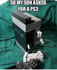 Crazy, Funny, and Lol: SO MY SON ASKED  FOR A PS3 I'll take it 🤷🏼‍♂️ Double tap for luck 👌🏼 Enjoy the memes? Get even more on my backup (@memerzone) ➖➖➖➖➖➖➖➖➖➖➖➖➖➖➖➖➖ Tags (Ignore) 🚫 GamingPosts Laugh CallOfDuty Lol Meme Memes Cod Selfie Funny Gamer FunnyAF Savage Salt Meme PhotoOfTheDay Crazy Insane Minecraft Shook Joke NoChill YouTube Relatable ladbible Overwatch
