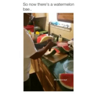 Bae, Watermelon, and Now: So now there's a watermelon  bae..  vage That's insane