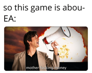 *angry gamer noises*: so this game is abou-  EA:  mother fucking money *angry gamer noises*