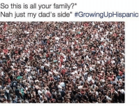 """Family, Memes, and 🤖: So this is all your family?""""  Nah just my dad's side"""" 😂😂😂 MexicansProblemas"""