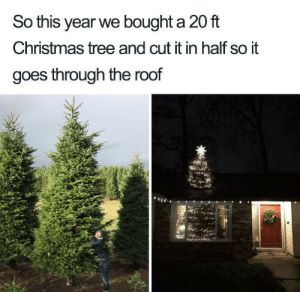 Deception 100 via /r/funny https://ift.tt/2PcmMm0: So this year we bought a 20 ft  Christmas tree and cut it in half so it  goes through the roof Deception 100 via /r/funny https://ift.tt/2PcmMm0
