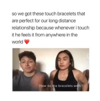 you can it from @shopomri 😭it's so cute (they're having a big labor day sale) the link is in my bio btw: so we got these touch bracelets that  are perfect for our long distancee  relationship because whenever i touch  it he feels it from anywhere in the  world  How do the bracelets work? you can it from @shopomri 😭it's so cute (they're having a big labor day sale) the link is in my bio btw