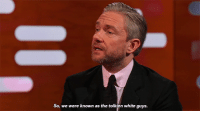 Martin, Target, and Tumblr: So, we were known as the tolkien white guys bob-belcher:  Martin Freeman reveals his and Andy Serkis' nickname on the set of Black Panther