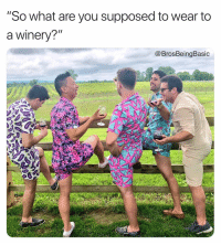 "If you're not rompin, you're doing it wrong 💁🏼🍆 @craspler @brosbeingbasic: ""So what are you supposed to wear to  a winery?""  @BrosBeingBasic If you're not rompin, you're doing it wrong 💁🏼🍆 @craspler @brosbeingbasic"