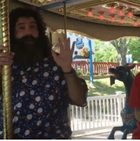 Memes, World Wrestling Entertainment, and Travel: So what does the WWE Raw GM do on his travel day before #Raw? Well, he stops off at #HolidayWorld in #SantaClaus IN & rides the carrousel...brother!
