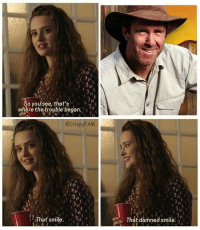 Fresh, Memes, and Smile: So you see, that's  where the trouble began.  @CrispyFAM  re  That smile. n  That damned smile. For real though @crispy_fresh_aussie_memes deserves so many more followers