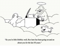 """Been, Via, and You: """"So you're little Bobbie; well, Rex here has been going on and on  about you for the last 50 years."""" 50 year wait at an end via /r/wholesomememes https://ift.tt/2E6HMZh"""