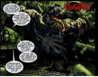 symbisexual-disaster: cassowarykisses:  Even though we've known we could remove [the symbiote] with sonic blasts [we weren't allowed to]! Blame the ACLU and PETA! They lobbied for the rights of the symbiote! on a meta level, this is an attempt by the writers to come up with an in-universe reason for Venom never being broken up into human  symbiote when they've been arrested (and also take a dig at the ACLU and PETA) but in-universe? the raw implications of the ACLU having a successful symbiote rights campaign that happens entirely offscreen and is never mentioned again?  when did this campaign happen?  who spearheaded it? Eddie did date two lawyers (Anne Weying and Beck Underwood) - were they involved in any capacity? did the ACLU actually sue on behalf of the symbiote? if so, what judge presided over this? what new fields of case law have been opened up by this? what existing case law is there in the Marvel universe for the rights of mutants and extraterrestrials? who were the witnesses in this case? even if it never went to court and was a 100% an ACLU campaign to get people to appeal to their representatives on behalf of symbiotes, you could still have expert witnesses called to Congress. you probably can't subpoena Spider-Man, since his identity isn't public, but what about Reed Richards (since he had the symbiote in captivity at least once)? what about various prison therapists and case managers? Matt Murdock, since he represented Venom in the Venom: On Trial miniseries? there is an entire court drama waiting to be written here and this throwaway line will never be touched on again  This is insane hahaha  That awkward moment when a comic universe PETA is more progressive than the real one.: SO YOU'RE  SAYING EVERY  TIME GARGAN OR  BROCK HAS BEEN  INCARCERATED-  5  -WHILE  BONDED WITH THIS  ALIEN CREATURE,  THEY'VE BEEN  PERMITTED TO KEEP  IT ON THEIR  PERSON?!  YES! EVEN  THOUGH WE'VE  KNOWN WE COULD  REMOVE IT  WITH SONIC  BLASTS!  BLAME THE  ACLU AND PETA!  THEY LOBBIED FOR  THE RIGHTS OF  THE SYMBIOTE!  UNBELIEVABLE!  WHY NOT LET HIM  CARRY A LOADED  FIREARM WHILE  THEY'RE  AT IT?! symbisexual-disaster: cassowarykisses:  Even though we've known we could remove [the symbiote] with sonic blasts [we weren't allowed to]! Blame the ACLU and PETA! They lobbied for the rights of the symbiote! on a meta level, this is an attempt by the writers to come up with an in-universe reason for Venom never being broken up into human  symbiote when they've been arrested (and also take a dig at the ACLU and PETA) but in-universe? the raw implications of the ACLU having a successful symbiote rights campaign that happens entirely offscreen and is never mentioned again?  when did this campaign happen?  who spearheaded it? Eddie did date two lawyers (Anne Weying and Beck Underwood) - were they involved in any capacity? did the ACLU actually sue on behalf of the symbiote? if so, what judge presided over this? what new fields of case law have been opened up by this? what existing case law is there in the Marvel universe for the rights of mutants and extraterrestrials? who were the witnesses in this case? even if it never went to court and was a 100% an ACLU campaign to get people to appeal to their representatives on behalf of symbiotes, you could still have expert witnesses called to Congress. you probably can't subpoena Spider-Man, since his identity isn't public, but what about Reed Richards (since he had the symbiote in captivity at least once)? what about various prison therapists and case managers? Matt Murdock, since he represented Venom in the Venom: On Trial miniseries? there is an entire court drama waiting to be written here and this throwaway line will never be touched on again  This is insane hahaha  That awkward moment when a comic universe PETA is more progressive than the real one.