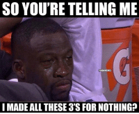 Poor Draymond 😂 nbamemes nbaplayoffs nbachampions warriors lebron draymond nba: SO YOU'RE TELLING ME  UNBAMEMES  I MADE ALL THESE 3'SFOR NOTHING? Poor Draymond 😂 nbamemes nbaplayoffs nbachampions warriors lebron draymond nba